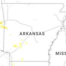 Regional Hail Map for Little Rock, AR - Friday, May 15, 2020