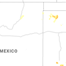 Regional Hail Map for Tucumcari, NM - Friday, May 15, 2020
