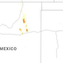 Regional Hail Map for Tucumcari, NM - Saturday, May 16, 2020
