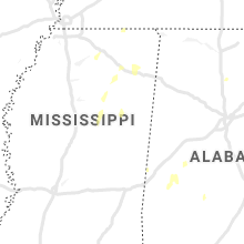 Regional Hail Map for Starkville, MS - Sunday, May 17, 2020
