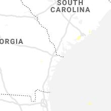 Regional Hail Map for Savannah, GA - Wednesday, May 20, 2020