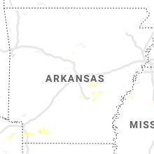 Regional Hail Map for Little Rock, AR - Thursday, May 21, 2020