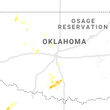 Regional Hail Map for Oklahoma City, OK - Thursday, May 21, 2020