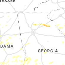 Regional Hail Map for Atlanta, GA - Friday, May 22, 2020