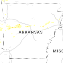 Regional Hail Map for Little Rock, AR - Friday, May 22, 2020