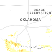 Regional Hail Map for Oklahoma City, OK - Friday, May 22, 2020