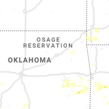 Regional Hail Map for Tulsa, OK - Friday, May 22, 2020