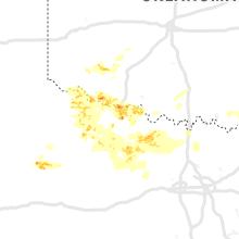 Regional Hail Map for Wichita Falls, TX - Friday, May 22, 2020