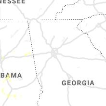 Regional Hail Map for Atlanta, GA - Saturday, May 23, 2020