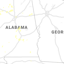 Regional Hail Map for Auburn, AL - Saturday, May 23, 2020