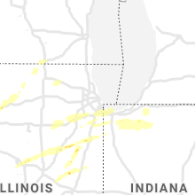 Regional Hail Map for Chicago, IL - Saturday, May 23, 2020