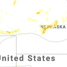 Regional Hail Map for North Platte, NE - Saturday, May 23, 2020