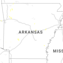 Regional Hail Map for Little Rock, AR - Sunday, May 24, 2020