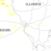 Regional Hail Map for Saint Louis, MO - Sunday, May 24, 2020