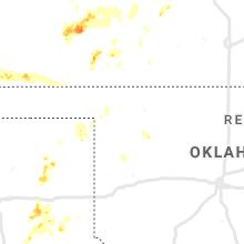 Regional Hail Map for Woodward, OK - Sunday, May 24, 2020