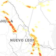 Regional Hail Map for Laredo, TX - Monday, May 25, 2020