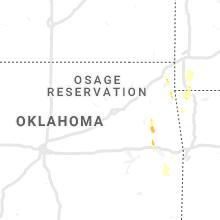 Regional Hail Map for Tulsa, OK - Monday, May 25, 2020