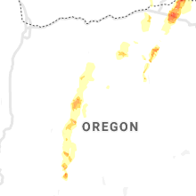 Regional Hail Map for Bend, OR - Saturday, May 30, 2020