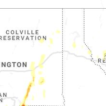 Regional Hail Map for Spokane, WA - Saturday, May 30, 2020
