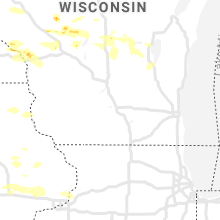 Regional Hail Map for Madison, WI - Tuesday, June 2, 2020