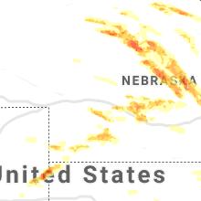 Regional Hail Map for North Platte, NE - Wednesday, June 3, 2020