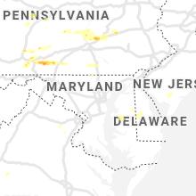 Regional Hail Map for Baltimore, MD - Thursday, June 4, 2020