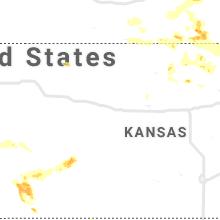 Regional Hail Map for Hays, KS - Thursday, June 4, 2020