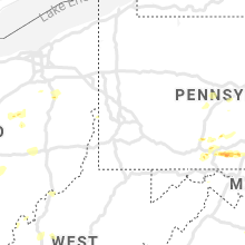 Regional Hail Map for Pittsburgh, PA - Thursday, June 4, 2020