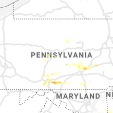 Regional Hail Map for State College, PA - Thursday, June 4, 2020