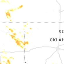 Regional Hail Map for Woodward, OK - Thursday, June 4, 2020