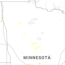Regional Hail Map for Bemidji, MN - Saturday, June 6, 2020