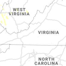 Regional Hail Map for Roanoke, VA - Saturday, June 6, 2020