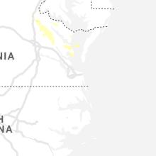 Regional Hail Map for Virginia Beach, VA - Saturday, June 6, 2020