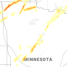 Regional Hail Map for Bemidji, MN - Monday, June 8, 2020
