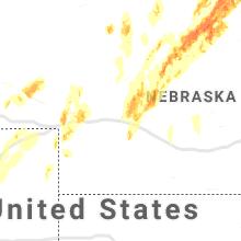 Regional Hail Map for North Platte, NE - Monday, June 8, 2020