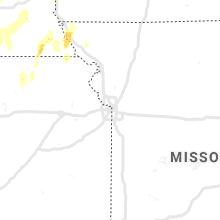 Regional Hail Map for Kansas City, MO - Tuesday, June 9, 2020