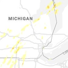 Regional Hail Map for Flint, MI - Wednesday, June 10, 2020
