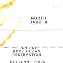 Regional Hail Map for Bismarck, ND - Sunday, June 14, 2020