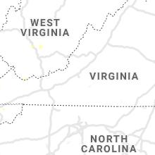 Regional Hail Map for Roanoke, VA - Sunday, June 14, 2020