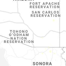 Regional Hail Map for Tucson, AZ - Monday, June 15, 2020