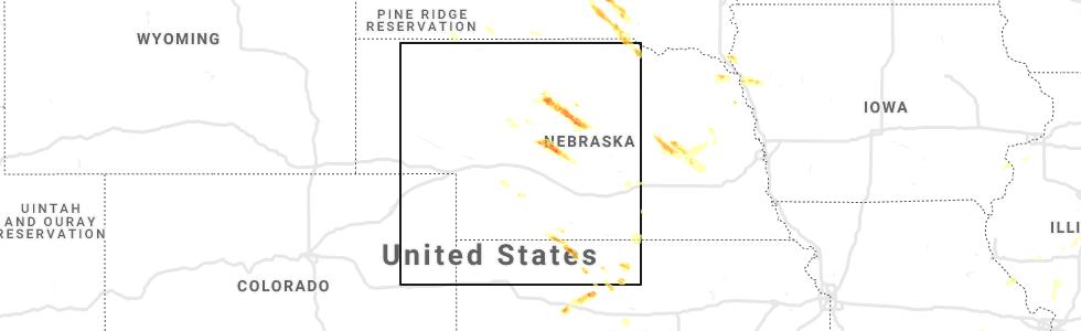 north platte nebraska map Hail Map For North Platte Ne Saturday June 20 2020 north platte nebraska map