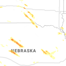 Regional Hail Map for Oneill, NE - Saturday, June 20, 2020
