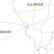 Regional Hail Map for Saint Louis, MO - Saturday, June 20, 2020