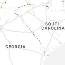 Regional Hail Map for Augusta, GA - Sunday, June 21, 2020