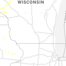 Regional Hail Map for Madison, WI - Sunday, June 21, 2020
