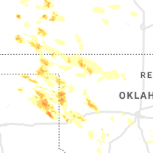 Regional Hail Map for Woodward, OK - Sunday, June 21, 2020