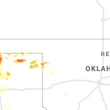 Regional Hail Map for Woodward, OK - Monday, June 22, 2020