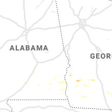 Regional Hail Map for Auburn, AL - Wednesday, June 24, 2020