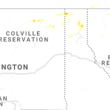Regional Hail Map for Spokane, WA - Wednesday, June 24, 2020
