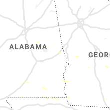Regional Hail Map for Auburn, AL - Thursday, June 25, 2020